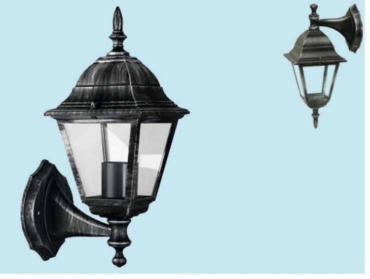 Lanterna lampada lume applique esterno giardino muro discendente o