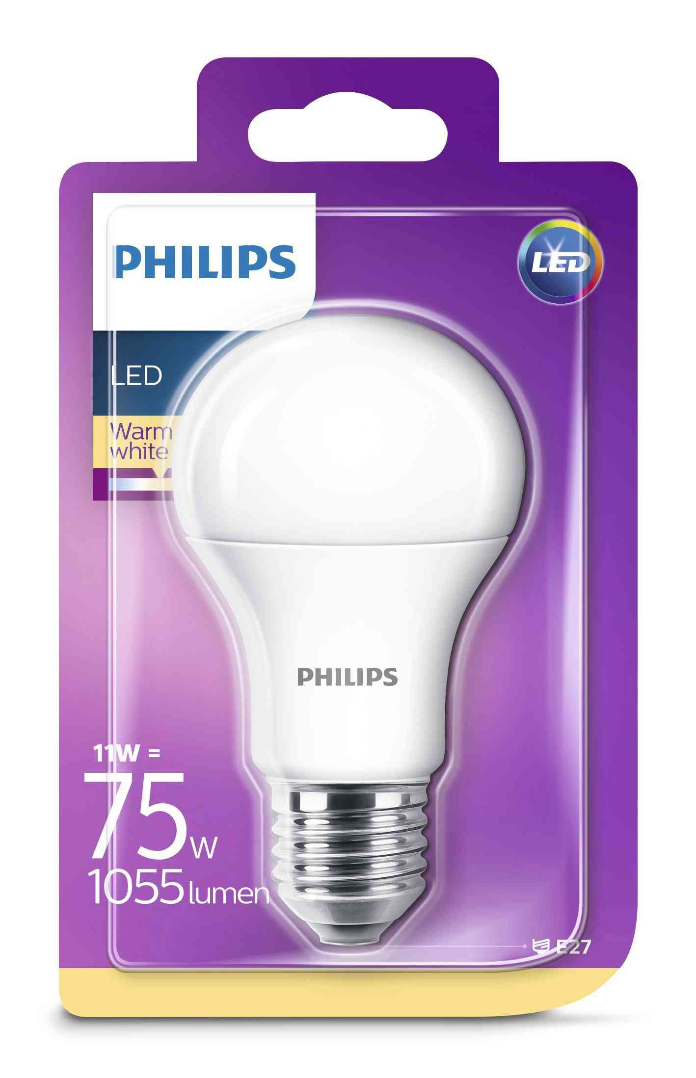 4 PZ Di PHILIPS LED GOCCIA 11WE27 2700K