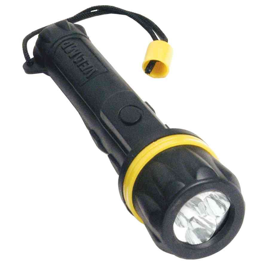 12 PZ Di TORCIA RUBBER LED 2AA (NON INCLUSE)