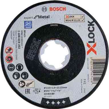 1 PZ Di BOSCH-B DISCO PER METALLO 'X-LOCK'MM.115X1,6