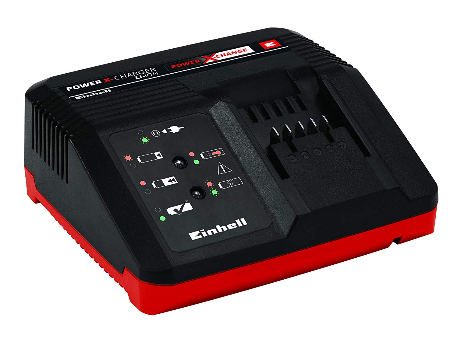 Caricabatteria rapido carica batteria per batterie Power X-Change Einhell