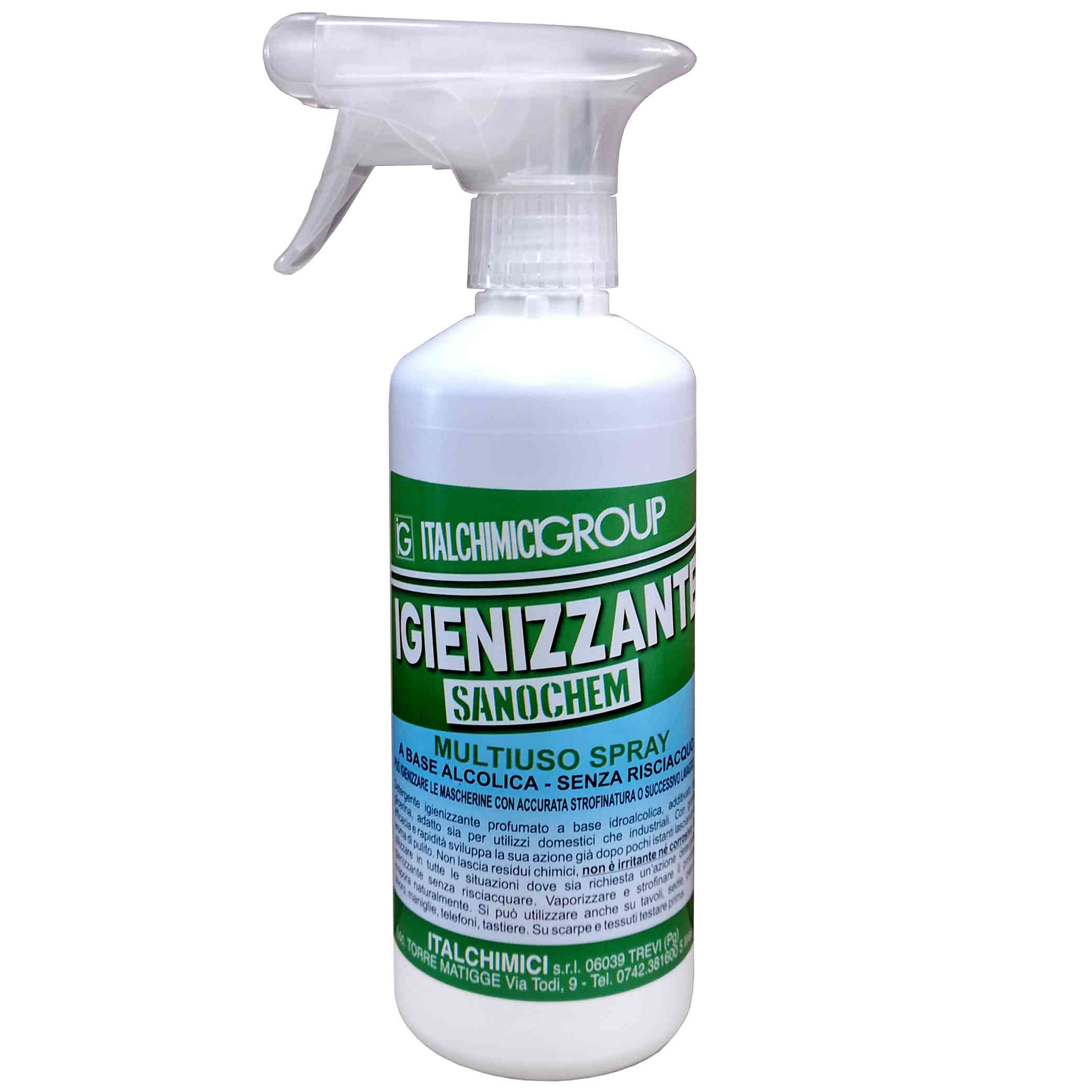 15 PZ Di IGIENIZZANTE 'SANOCHEM' SPRAY 500ML MULTIUSO