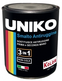 "1 PZ Di SMALTO ""UNIKO"" MARRONE      LT.0,750"