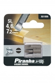 1 PZ Di *PIRANHA X61006 3 INSERTI MM.25 TF 4-6-7,2