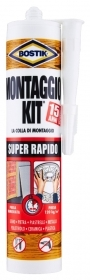 1 PZ Di BOSTIK CART.'MONTAGGIO KIT'SUPER RAPIDO 370GR