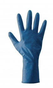 1 CF Di GUANTI LATEX PRO BLU SPESS.0,28MM.TG.M (50PZ)