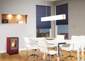 1 PZ Di STUFA PELLET KW 5,8 KING 60 BORDEAUX
