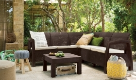 1 PZ Di KETER SALOTTO 'CORFU CORNER' BROWN