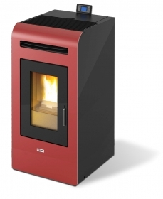 1 PZ Di STUFA PELLET 'KING 16' CANAL. KW15,5 BORDEAUX